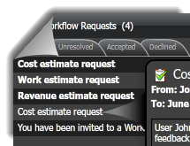 Receive workflow request when you are invited to collaborate with a team member
