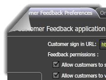 Control what features your customers have access to though the Customer Feedback Preferences