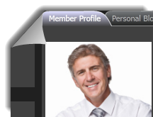 Public view of a personal profile