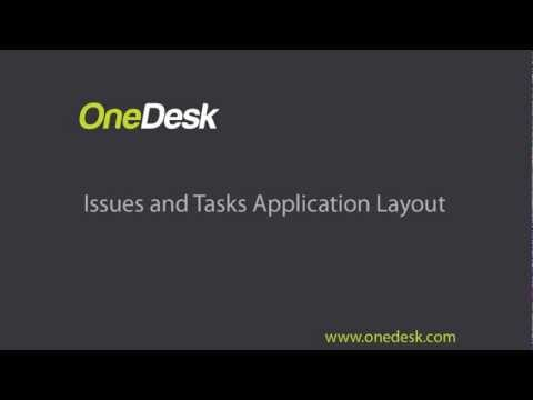 issues and tasks application layout