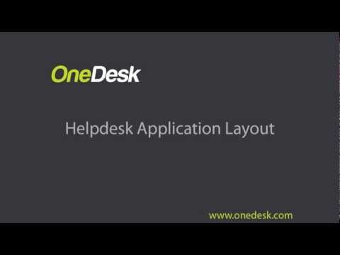 helpdesk application layout