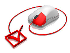 computer mouse with checkbox