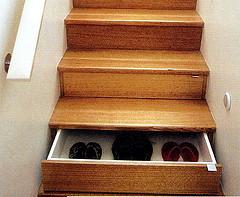 stairwell shelves