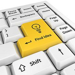 find ideas enter key