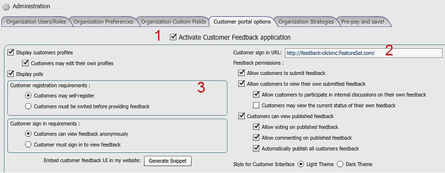 customer portal options