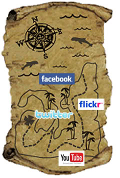 social media treasure map