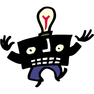 light bulb man cartoon