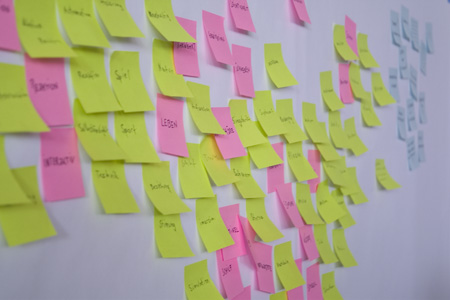 postit on board