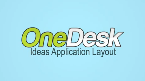 onedesk ideas application layout