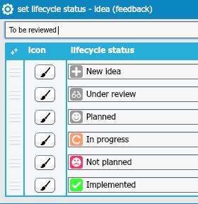 setting lifecycle status