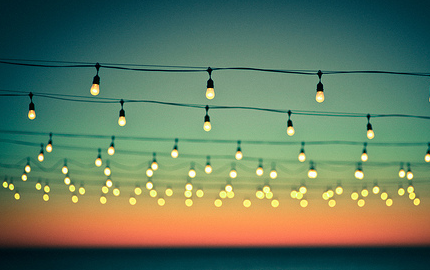 hanging lights in the air