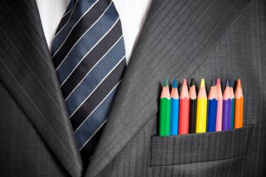 color pencils in front pocket