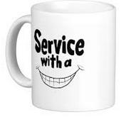 service with a smile mug