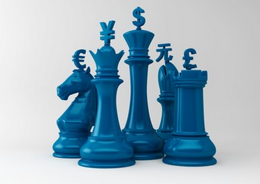 blue chess pieces