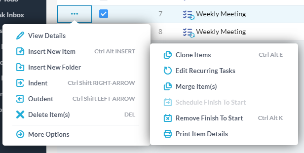 editing recurring tasks