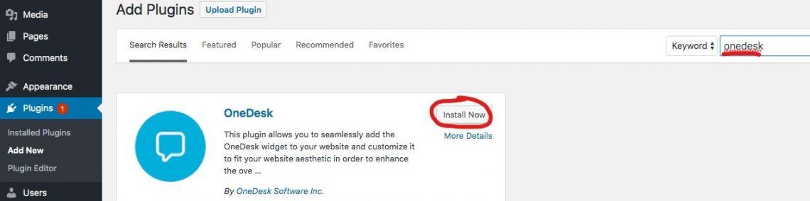 Screenshot des WordPress-Plugins