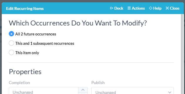 modifying occurrences