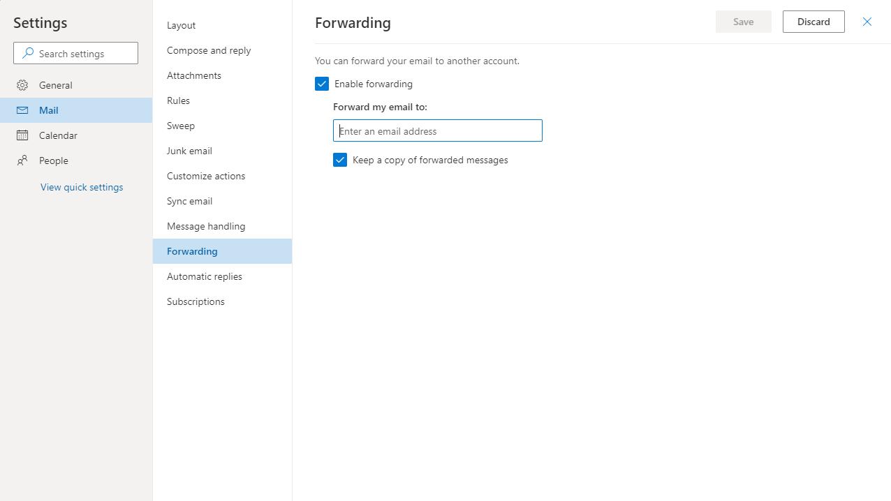enable forwarding
