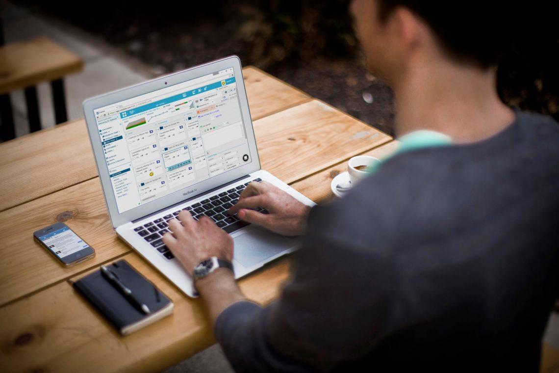 onedesk app mockup on laptop