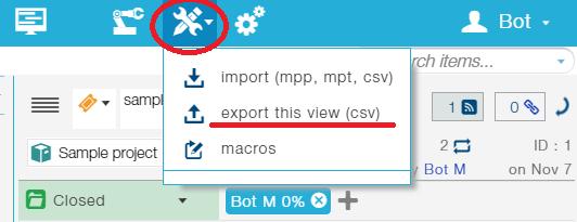 export view
