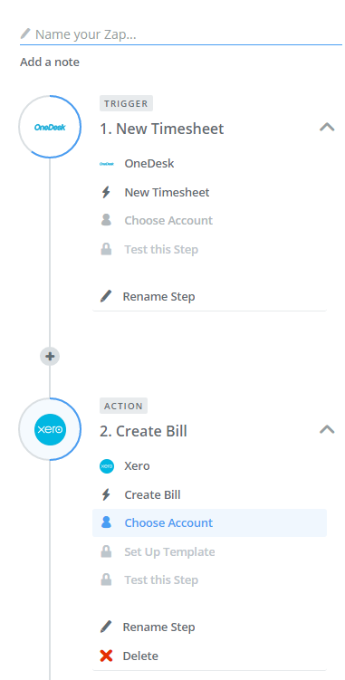 integrate project management to xero