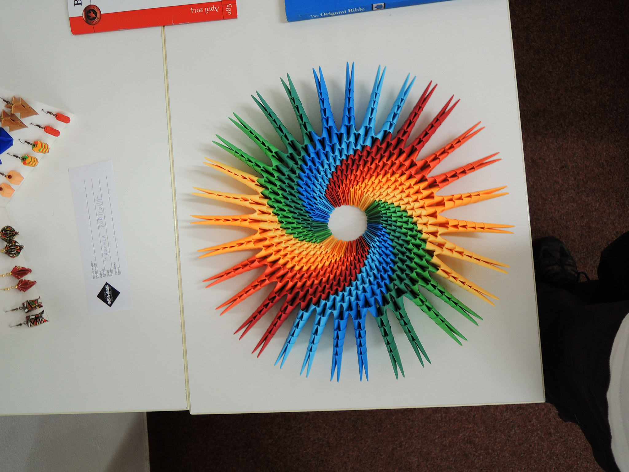 paper rainbow colored sun