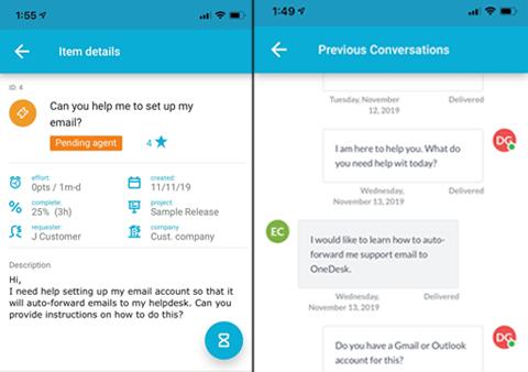 App mobile dell'helpdesk