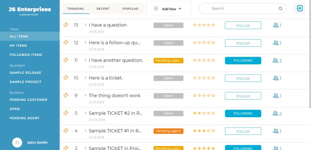 portale clienti helpdesk
