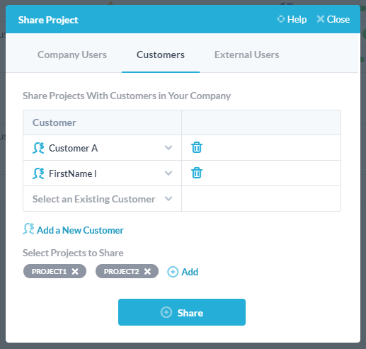 by-customer-share-multiple-projects