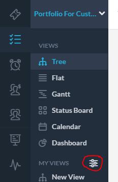 Create a new dashboard view