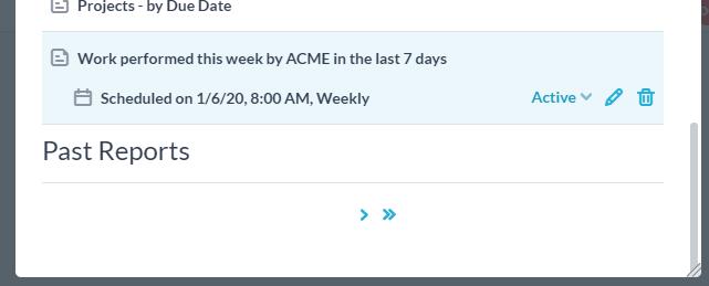 saved schedule