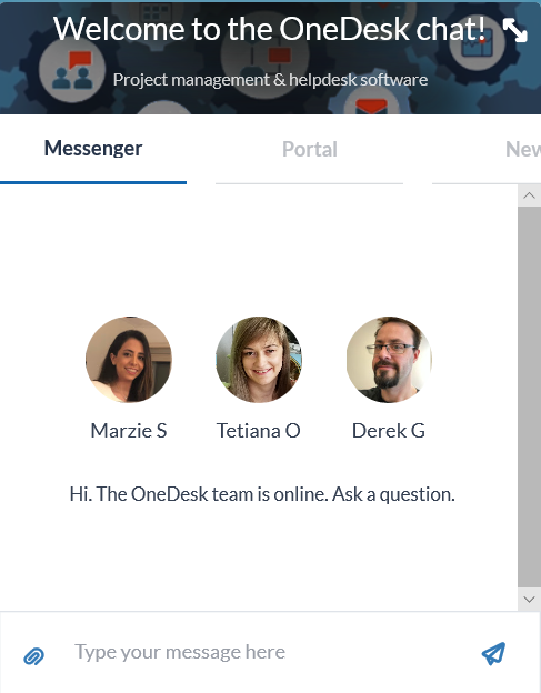 Live Chat Application for Helpdesk