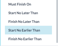 Constraints on Start and End Dates