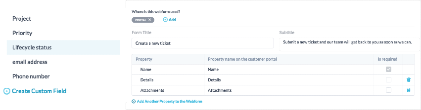Customizing Ticket Forms