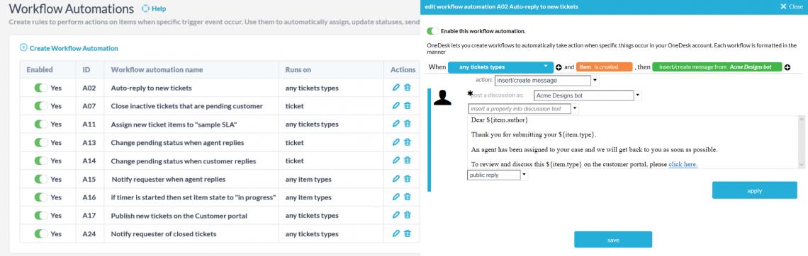 Software per la gestione delle risposte alle e-mail