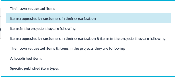 Customer Viewable Items in Project Management Client Portal