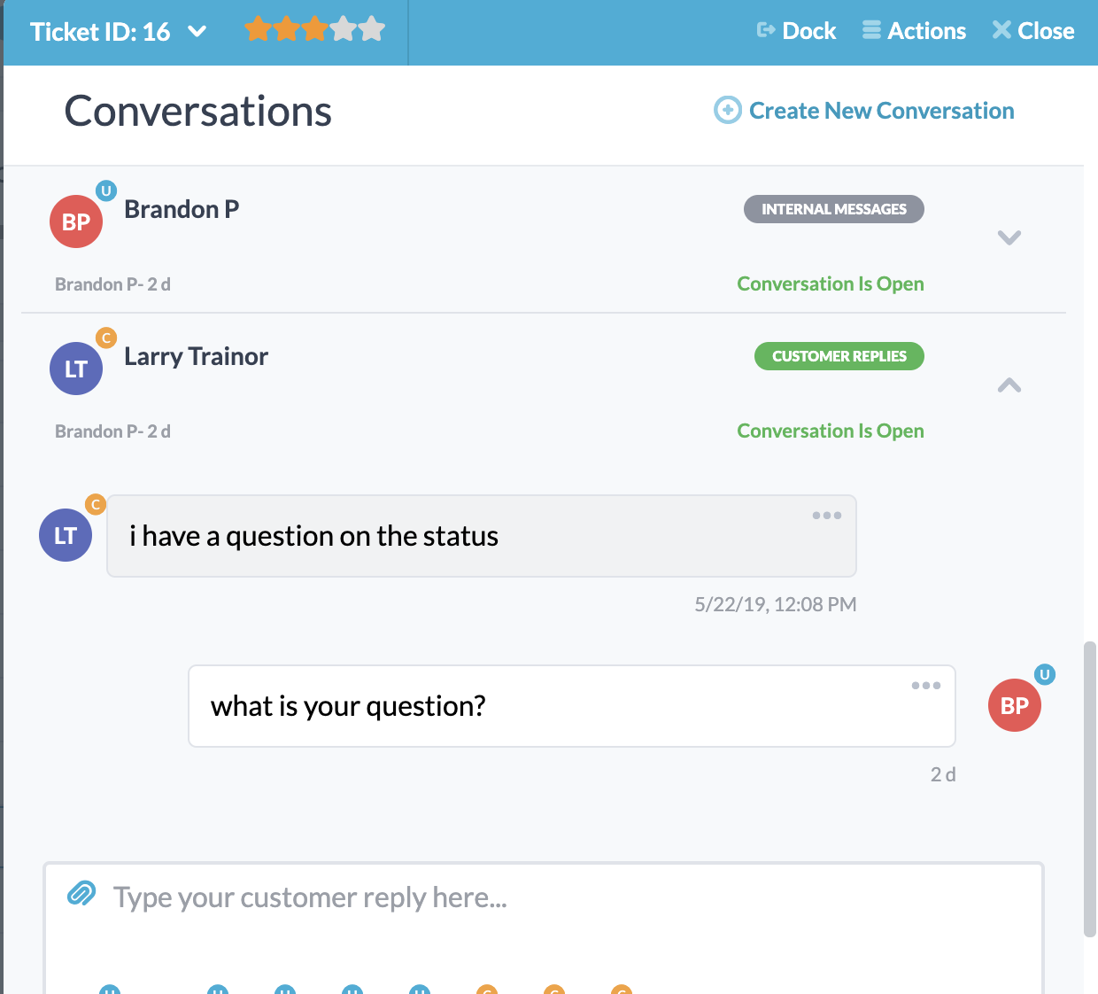 Live Chat App in Helpdesk Portal