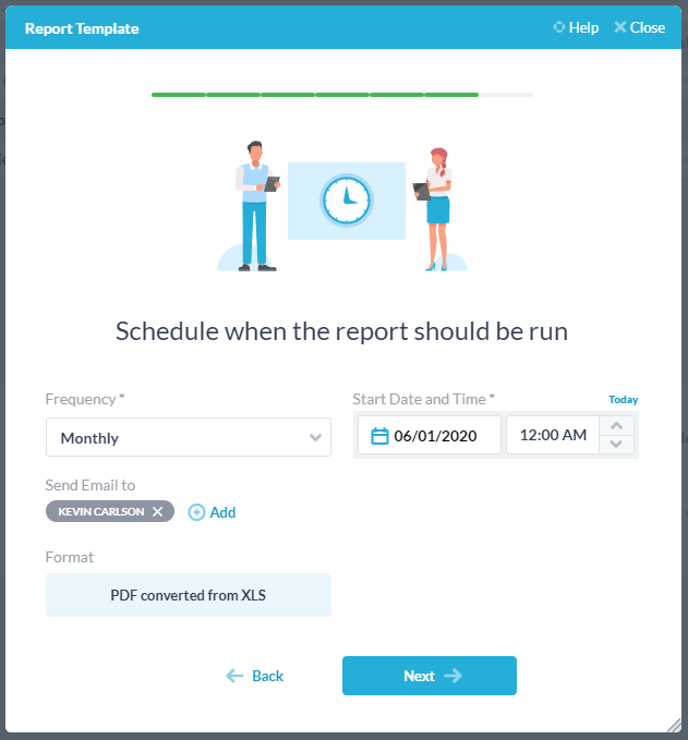 schedule and email reports