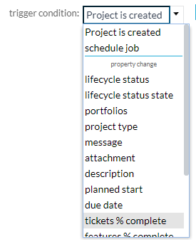 project automation - event triggers