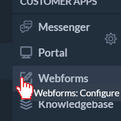 Webforms: Configure