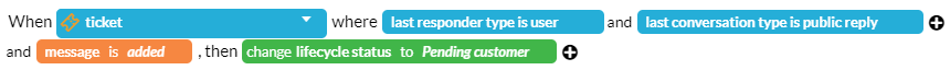 Change pending status when agent replies