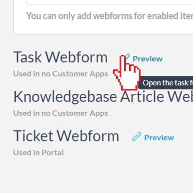 Preview webform