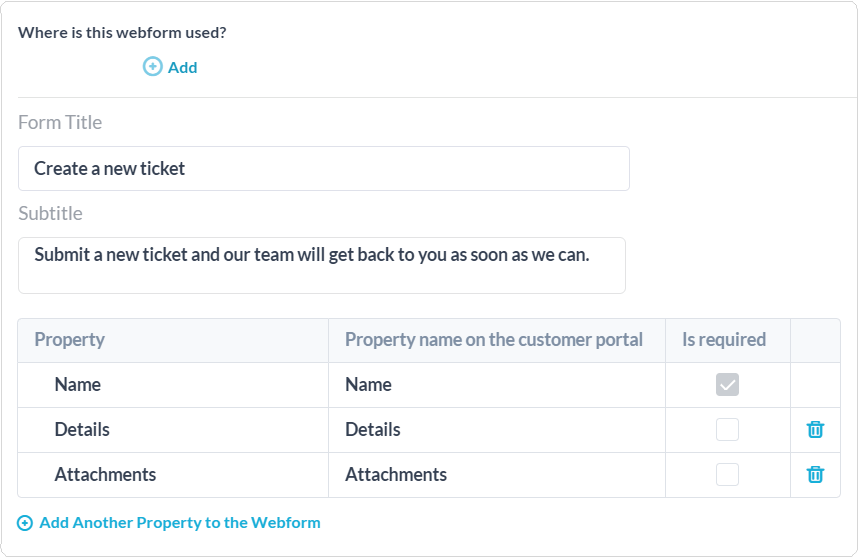 Webform customization