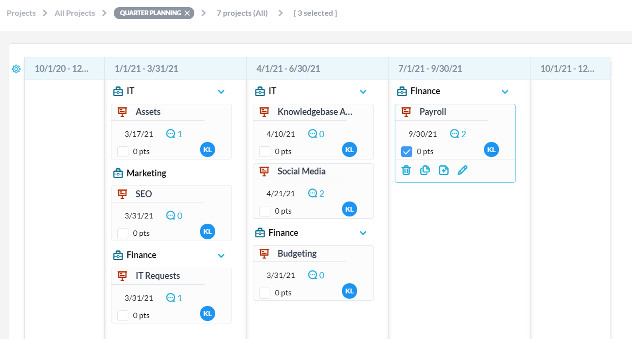Manage your Portfolios Project on a Kanban Board