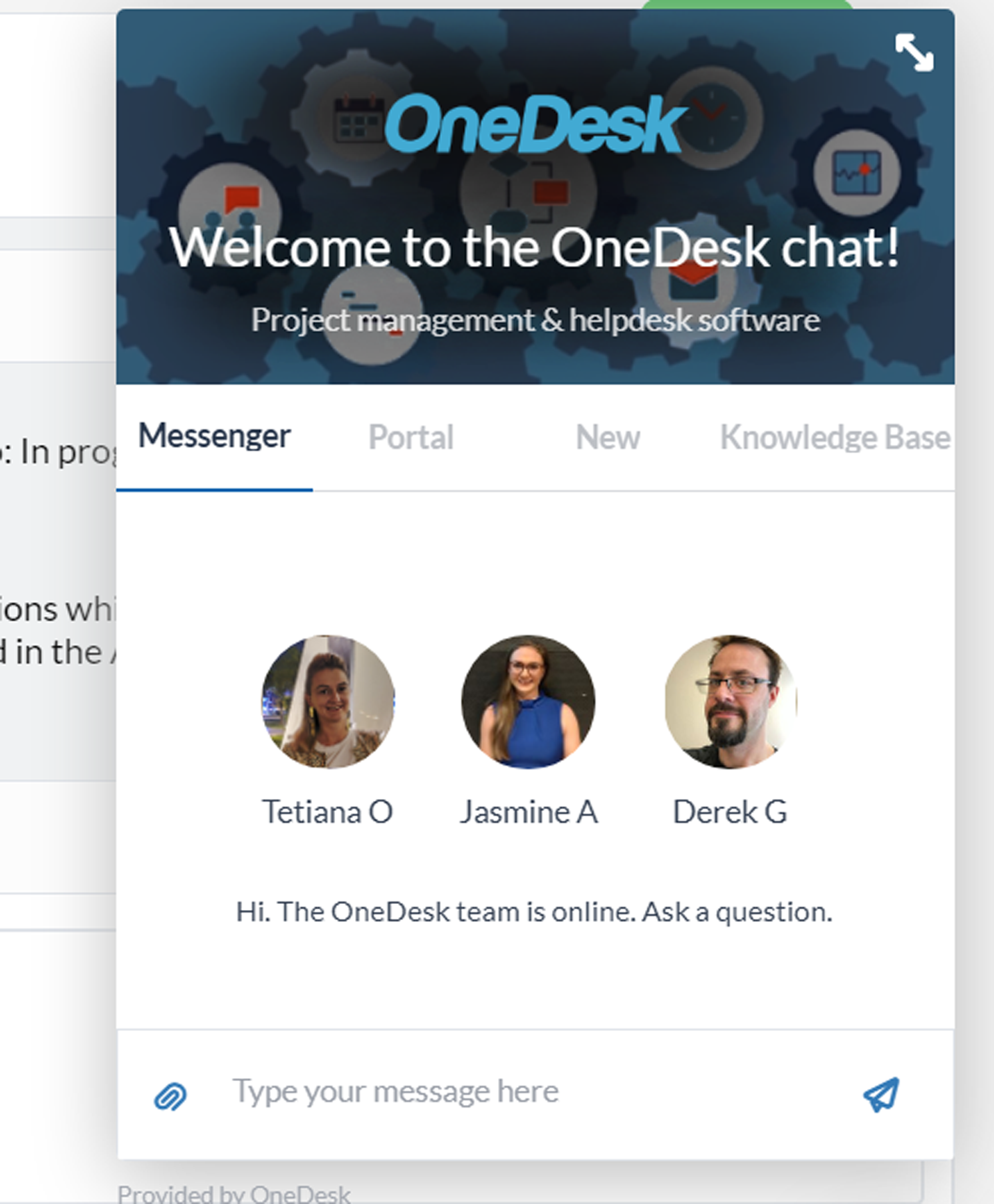 Live Chat Messenger on your Website