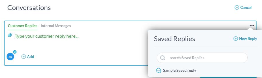 saved replies
