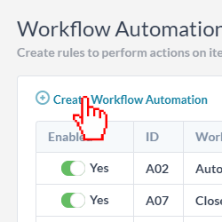 create workflow automation