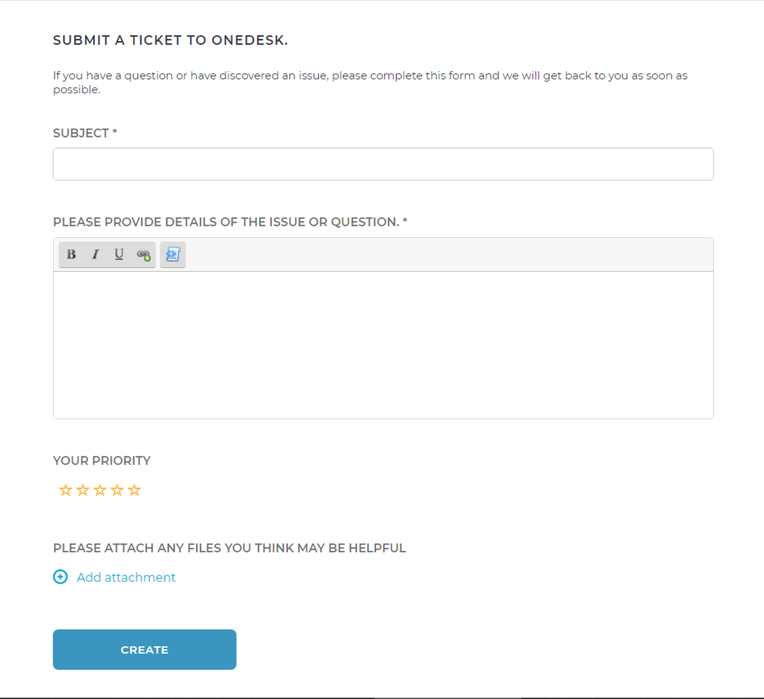 Allow Customers to Submit New Tickets