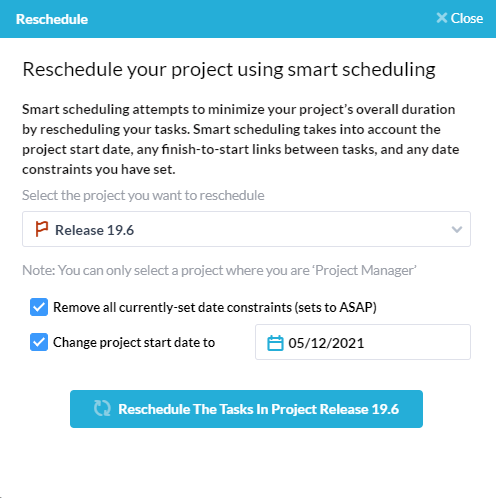 Detailed scheduling & critical path method