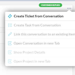 Creating Items from Live Chat